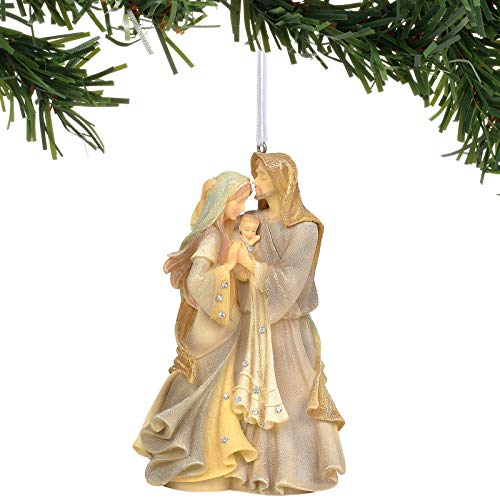 Enesco Foundations Holy Family Masterpiece Ornament, 4.75', Multicolor