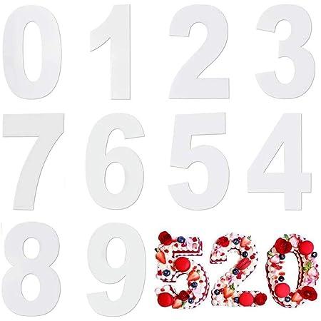 Moule Number Cake,Moules à Gâteaux Numériques en Acryliques Moule à Cake Grand Nombre de 0 à 9 pour Crème de Gâteau aux Fruits Gâteau de Mariage d'anniversaire Bonbons 12 inch