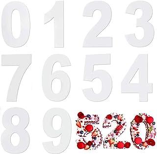 Moule Number Cake,Moules à Gâteaux Numériques en Acryliques Moule à Cake Grand Nombre de 0 à 9 pour Crème de Gâteau aux Fr...
