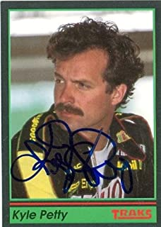 Kyle Petty autographed Trading Card (Auto Racing) 1991 Tracks, 47 - Autographed NASCAR Cards