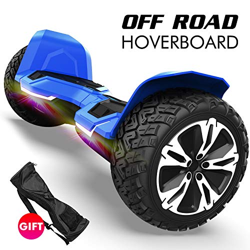 Gyroshoes Hoverboard - Warrior 8.5 inch Off Road All Terrain Hoverboard with Bluetooth Speaker and Led Lights,Self Balancing Hoverboards UL2272 Certified