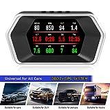 4' 2019-2020 Latest Version Display Head High HUD OBD2 GPS Dual Speedometer System Mileage Diagnostic Auto...