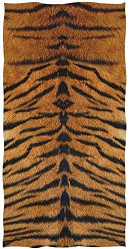 Rode handdoek, afmetingen 30 x 15 inch, dierlijke tijgerprint, hoog absorberend, voor thuis, keuken, badkamer, gym, zwempa