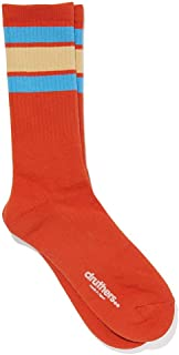 DRUTHERS Organic Cotton Tall Stripe Gym Socks for Men or Women/High End Quality/Eco Friendly/Made in Japan
