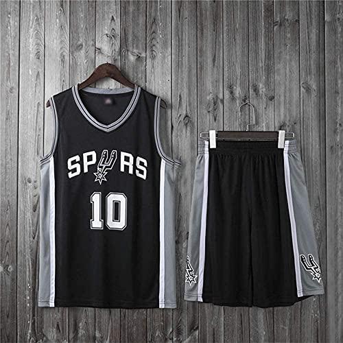 Ropa Trajes de baloncesto para niños, San Antonio Spurs # 10 DEMAR DEROZAN NBA Basketball Jerseys Casuales Tops Camisetas sueltas Cómodas chalecas + Pantalones cortos, Negro, XL (Niño) 145 ~ 155cm