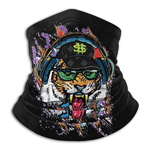 Money Tiger con Gorra de béisbol, Gafas de Sol y Cubierta Facial, Polaina para el Cuello, pasamontañas Multifuncional, Bandana