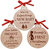 Heart's Sign Set of 3 Bumps First Christmas Ornament 2020 | Baby On The Way Ornament | Christmas Pregnancy Announcement Ornament 2020 | Mom to Be Ornament 2020 | Grandparents Christmas Ornament Gifts