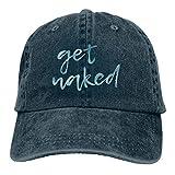 Photo de Unisexe Get Naked Chapeaux de Baseball Respirants Glock Hat pour Hommes Femmes Chapeaux Hip Hop Navy par