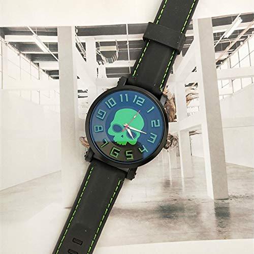 Ghost Head Watch Barrel horloge siliconen band casual polshorloge