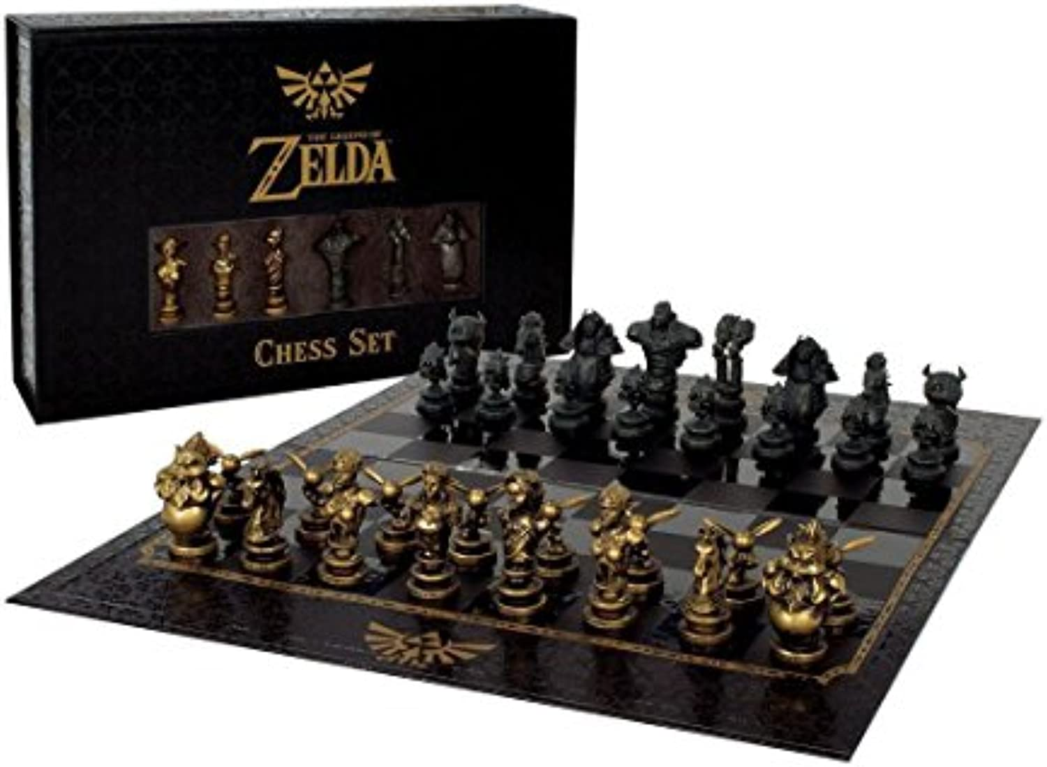 The Noble Collection Z883345 The Legend of Zelda Schach Collector's Edition, Mehrfarbig