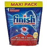 Finish Pastiglie Lavastoviglie All in 1 Max, Limone, 76 Tabs