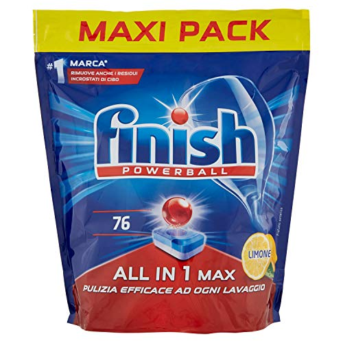 Finish All in 1 Max Pastiglie Lavastoviglie, Regular, 76 Tabs