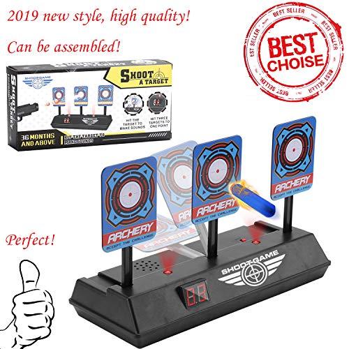 Sparta's Store Zielscheibe für Nerf,Auto Reset Elektro-Schießscheiben,Shooting Target,Elektrische Ziel,Toy Gun Elektrische Punktzahl Ziel,Digitale Ziele mit hellem Soundeffekt!