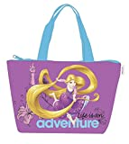 Bolso de playa para niña, diseño de princesa, 46 cm, color morado