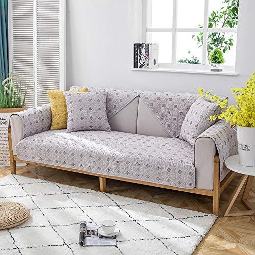 fundas protectoras de muebles Habitación,Protector de protector de sofá acolchado cuadrado,funda de sofá de tela de estudio moderna,funda de sofá para el hogar,manta de sofá antideslizante de 4 estac