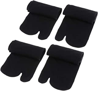 2 Pare Calcetines de Chanclas Elástico 2-Toe Dividido Transpirable Absorbente para Mujer Hombre
