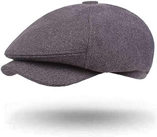 2019 Women Mesh Woolen Quilted Cap for Unisex Adjustable Newsboy Hat Duckbill Gatsby Irish Flat Cap 56-58cm (Color : 1, Size : Free Size)