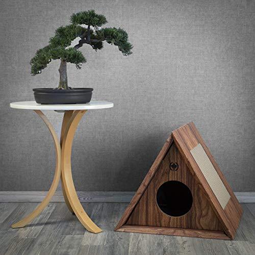 CanadianCat Company ® | Kratzmöbel Triangle House | walnuss | Höhle für Katzen | ca. 50 x 50 x 43,5 cm