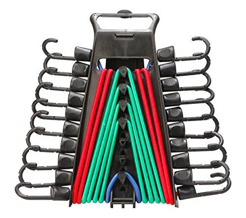 Unitec 75273 Gepäckspanner-Set, 10-teilig, extrem strapazierfähig, verschiedene Gröߟen