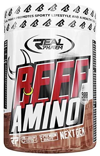 Real Pharm Beef Amino Aminosäuren 300 Tabletten Proteinhydrolysat aus Rindfleisch
