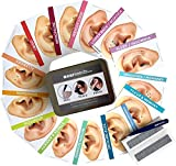 Ear Seeds: Acupressure Multi-Condition Reference Kit - 160 pcs. Stainless Steel Ear Seeds with Clear Latex-Free Tape, Tweezers and Simple Condition-Specific Reference Charts - Comes with Display Box