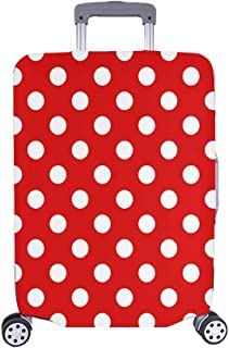 InterestPrint Girly Fashion Polka Dots Travel Luggage Cover Baggage Suitcase Protector for 26