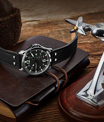 Stuhrling Original Montre aviateur analogique Sport pour Homme, Réglage Rapide, Date du Jour,...