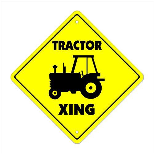 Traktor CROSSING SIGN NEW Xing Farmer Fall Farmall