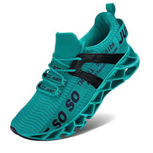 Vivay Herren Sportschuhe Schnürschuhe Atmungsaktiv Moderne Freizeit Sneaker Schuhe Outdoor Laufschuhe Low-Top Bequeme Turnschuhe Gymnastikschuhe