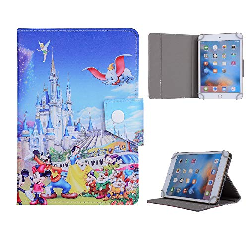 Mickey Minnie Mouse Cartoon Tablet Case For Samsung Galaxy Tab A 10.1' inch P580 P585 T580/T585 2016 T510/T515 2019 Case (Disney Family Castle)