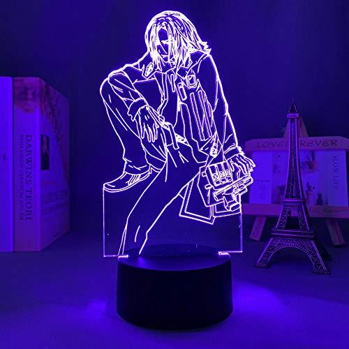 ilusión 3D ilusión LED Luz para la decoración de la sala Manga Night Light Birthday Gift Kids Bedroom Decor Table 3D Lamp Anime Crybaby Party bar Atmosphere