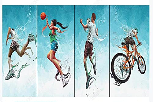 Papel tapiz fotográfico 3D personalizado mural baloncesto voleibol fútbol deportes extremos fondo pared sala de estar dormitorio decoración del hogar mural-350 * 245cm