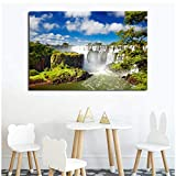 chtshjdtb Iguazu Falls Natur Landschaft Leinwand Malerei