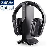 Avantree HT280 Funkkopfhörer Kabellose Kopfhörer zum Fernsehen mit 2,4G RF Transmitter Ladedock,...