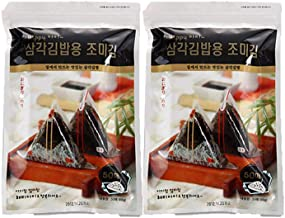 HapppyI Seaweed Wrappers for Triangular Triangle Kimbab with sticker(100sheets) (100 sheets)