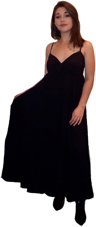 LOTUSTRADERS Long Lush Tiered Skirt Maxi Dress U330