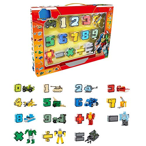Numero di robot action figure toy regalo per bambini educazione della prima infanzia 15 pezzi-Numeri di apprendimento dei bambini