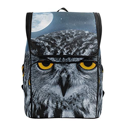 Fantazio Eagle Owl Bubo Sac à Dos pour Ordinateur Portable, Voyage, randonnée, Camping, décontracté, Grand Sac à Dos pour l'école