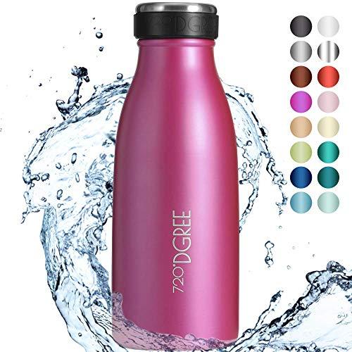 """720°DGREE Borraccia Termica Acciaio Inox """"milkyBottle"""" - 500 ml - Senza-BPA, Isolato Sottovuoto, Doppia Parete, A Prova di Perdite Anche per Acido Carbonico - Bottiglia Termos"""