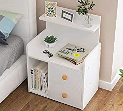 Made of sturdy and durable hardboard. These bedside tables have 2/3 spacious drawer, perfect for bedroom storage Not only space saving, these bedside table look excellent and would fit perfectly in to any contemporary style interior This bedside tabl...