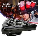 SOWLFE Aufblasbare Pong Hüte werfen Spiel Pool Party Game und Lounge (Bier Pong) -