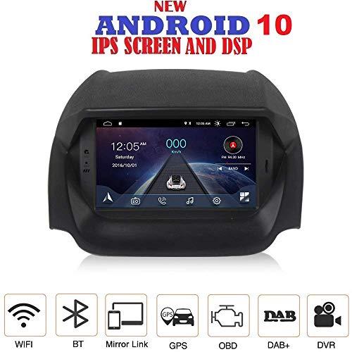 ANDROID 10 GPS DVD USB SD WI-FI Bluetooth MirrorLink autoradio navigatore compatibile con Ford Ecosport 2013, 2014, 2015, 2016, 2017