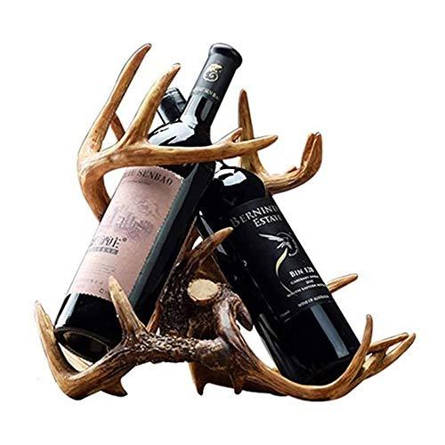 ZHUANYIYI Estante de Vino, artesanías en el hogar Decoración Sala de Estar Mesa de Comedor Mesa de Vino Decoraciones de Rack de Botellas de Vino Creativo, para casa/Oficina