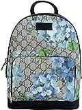 Gucci Unisex Beige/Azul Bloom GG Recubierto Lona Pequeña Mochila Con Caja 427042 8493