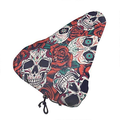 Niet van toepassing Flamingo Vogel Extra Zachte Fietsstoel -Fietszadel Kussen Met Water&Stofbestendige Cover