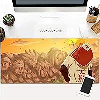 ノートPCに適したゲーミングマウスマットラージマウスマットマウスマットアニメーション、キーボードパッドと (Color : E)
