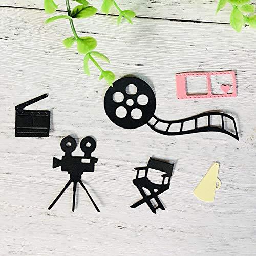6 Stks Camera Fotografie Film Metaal Snijden Dies DIY Album Kaarten Stencil Sjabloon door Lai-LYQ