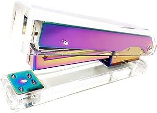 Rainbow Stapler Clear Acrylic Body Colorful Desktop Stapler with Classic Modern Design Executive Spring Powered Manual Sta...