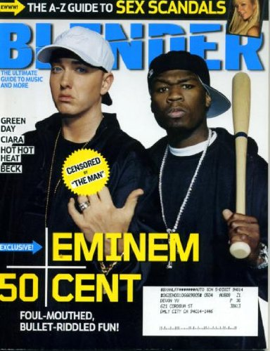 Blender May 2005 Eminem & 50 Cent Cover, Guide to Sex Scandals, Coachella, Moby, Ciara, Lil' Kim Nude