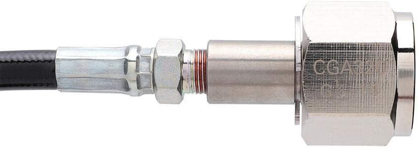 Tuyau de soude CO2, tuyau anti-rouille haute pression de 2,5 m CO2 pour tube de soude SodaStream à adaptateur direct de réservoir CGA320(W21.8-14) G1 / 2